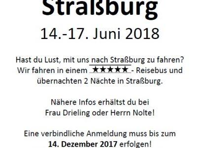 Fahr mit nach Straßburg!