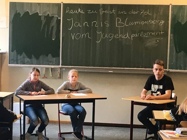 7d: Jannis Blumenberg berichtet aus dem Jugendparlament