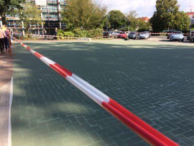 Das Streetbasketballfeld