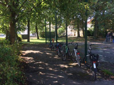 Neuer Rollerparkplatz in Planung
